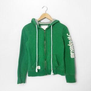 5/$25 🌿 AEROPOSTALE Green Zip Up Hoodie